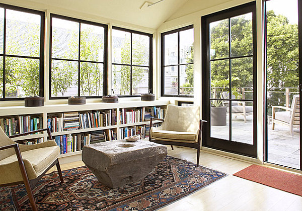Contemporary-eclectic-sunroom