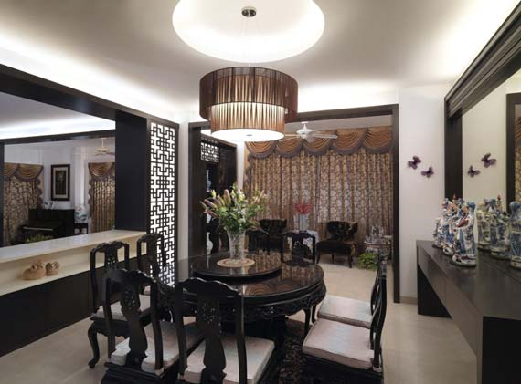 Asian Dining Room Theme Ideas with Asian Typical Decoration Design