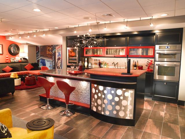 Basement Bar eclectic-basement