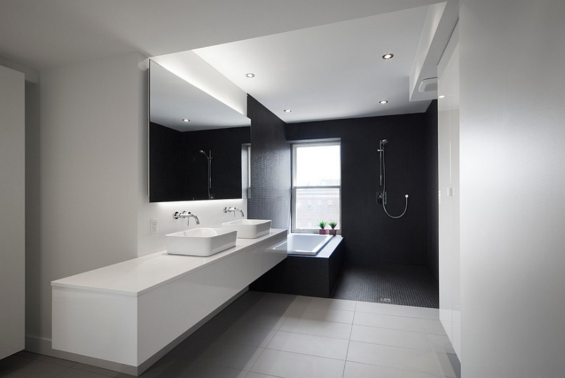 Contemporary-bathroom-in-black-and-white