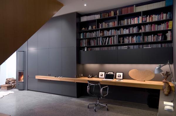 Cool Basement Home Office Design