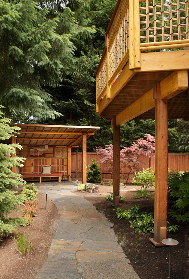 Custom-Pergola-Ideas-for-Natural-Asian-Outdoor-Patio-Shelter