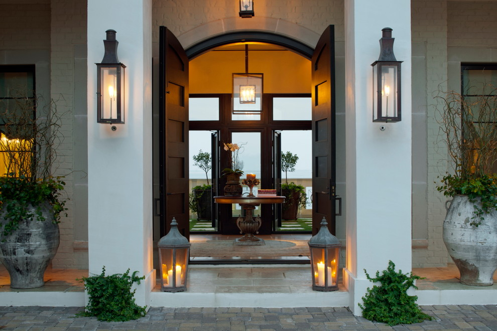 Delightful-Hanging-Outdoor-Lanterns-For-Candles-Decorating-Ideas-Images-in-Entry-Contemporary-design-ideas-