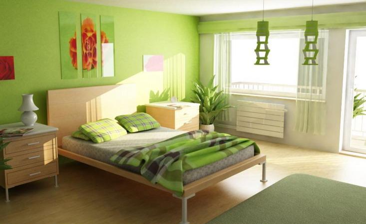 Elegant-Green-Bedroom-Colors-in-Minimalist-Design-Ideas