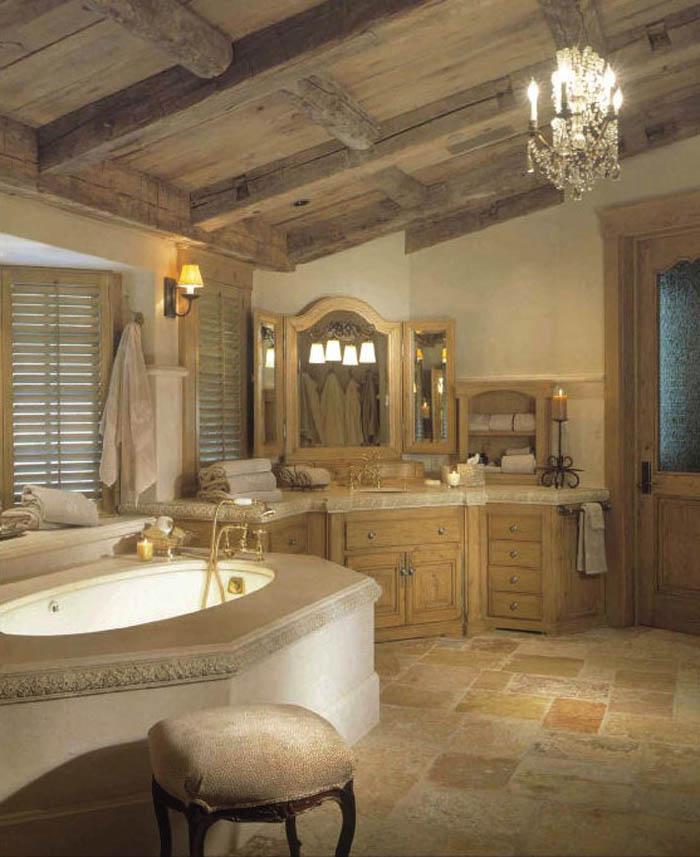 Elegant-and-Classy-Rustic-Traditional-Bathroom-Designs