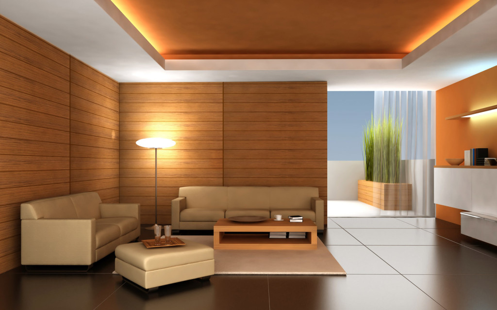 Interior-Design-Brown-Living-Room-Apartment