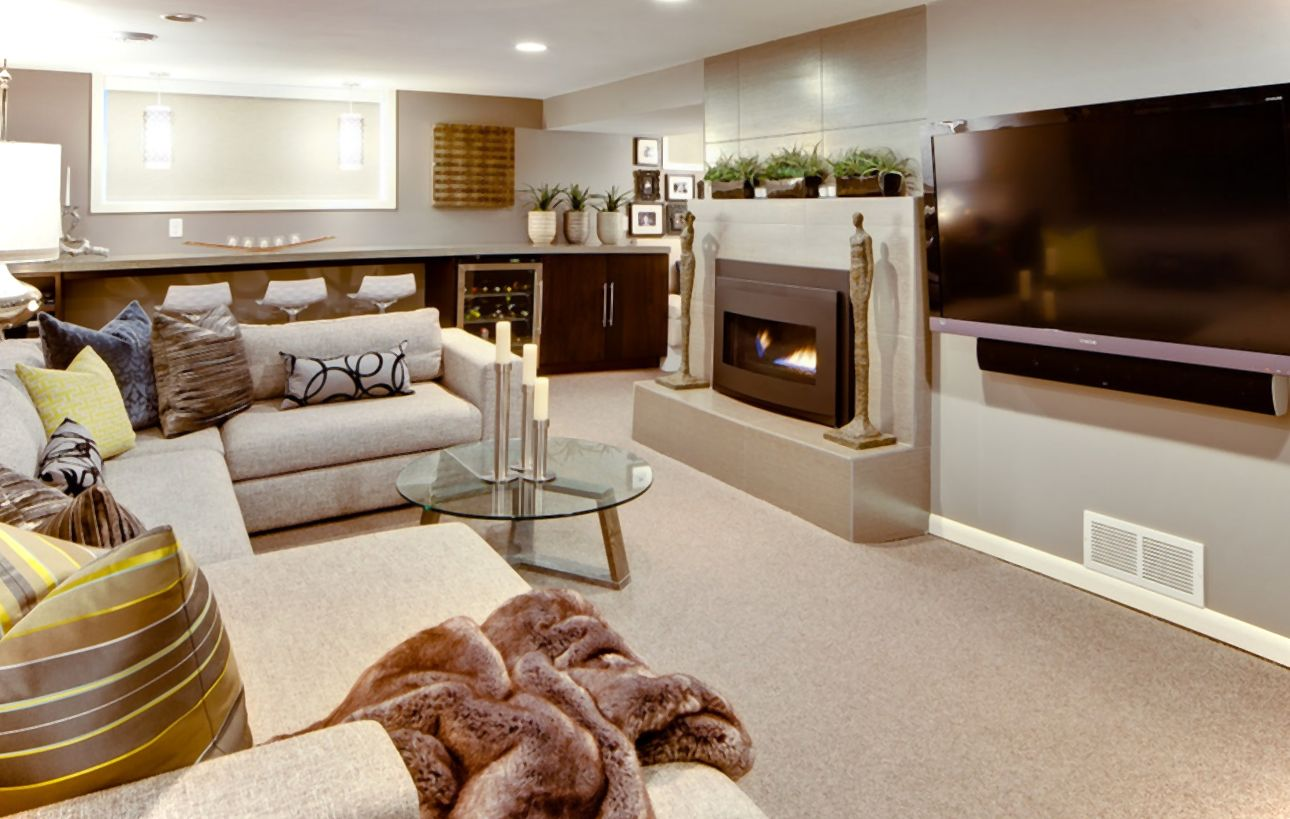 21 Fresh Modern Living Room Designs: 21 Stunning Modern Basement Designs