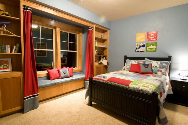 Traditional-Kids-Bedroom-Ideas-with-Wood-Bed-Furniture