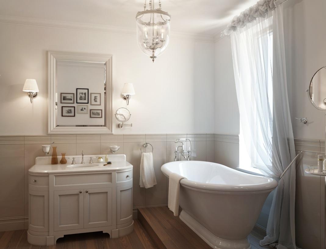 White-traditional-bathroom-roll-top-bath