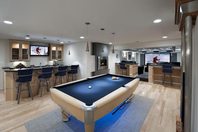 contemporary-basement