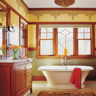 craftsman style bathroom