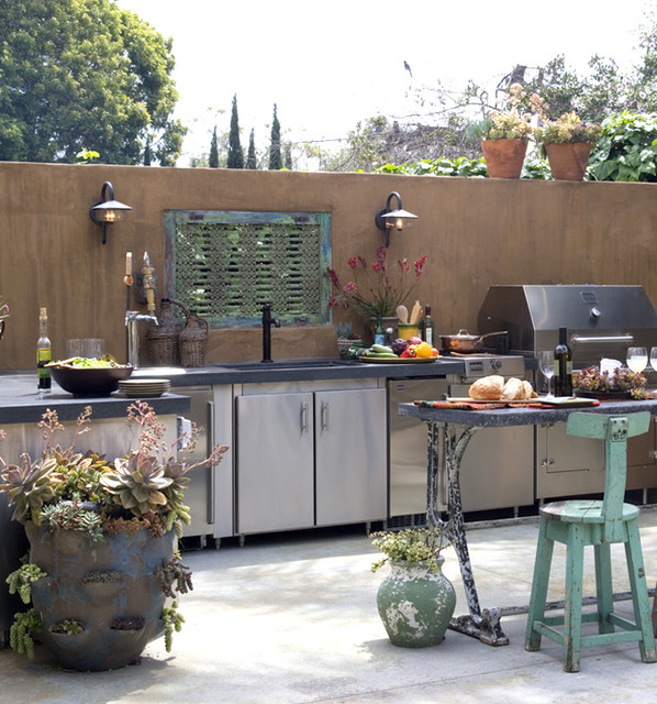 eclectic-patio-with-adorable-cool-elegant-nice-adorable-fantastic-houzz-outdoor-kitchen-design-and-has-modern-stuffs-design-concept