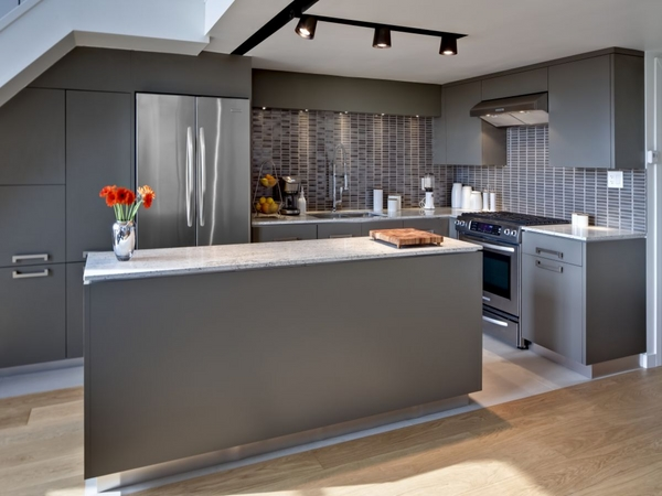 small-kitchen-trends-2015-gray-color-natural-wood-flooring-modern-lighting