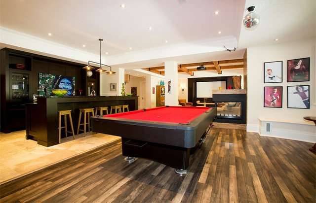 Affordable Beach Style Basement Design Ideas