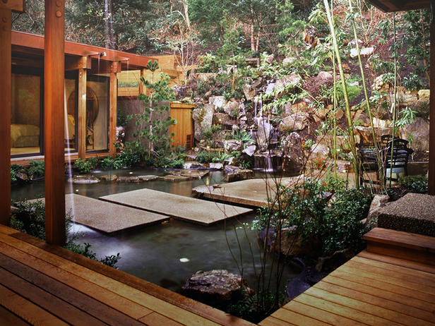 Asian Garden Design Fire
