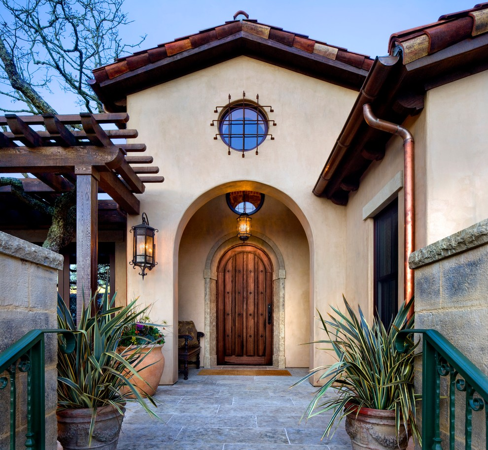 20 Incredible Mediterranean Entry Designs
