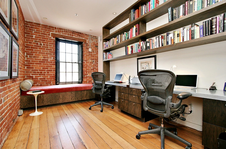 Exposed-brick-walls-and-industrial-windows-in-the-home-office