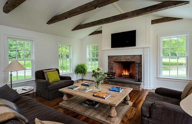 Farmhouse-style-living-room-with-a-fireplace