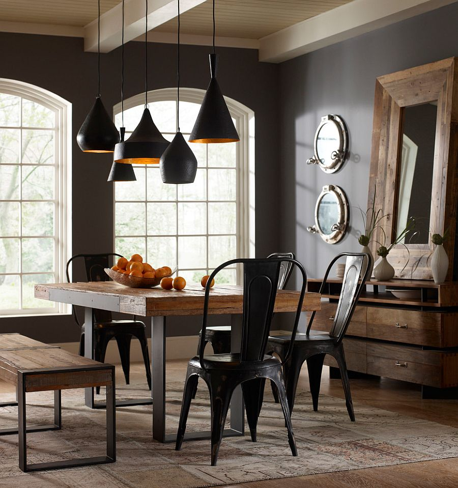 Gray-walls-and-Tom-Dixon-pendants-add-contemporary-beauty-to-the-space