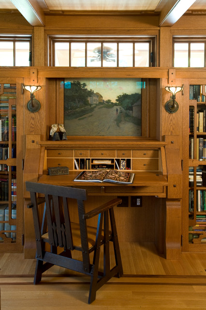 Hidden Bungalow and Gatehouse craftsman-home-office