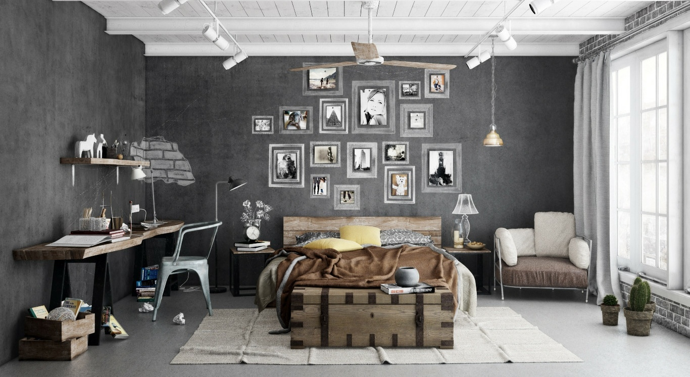 Industrial-bedroom-scheme