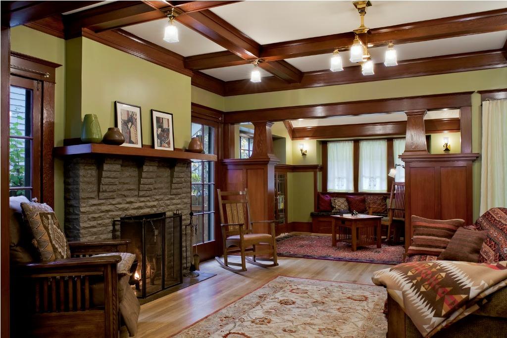 Laurelhurst-1912-Craftsman-living-room-after