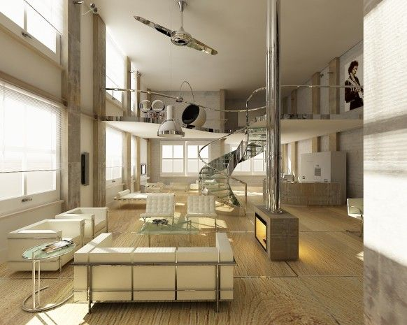 Living Room Designs with Tall Ceilings