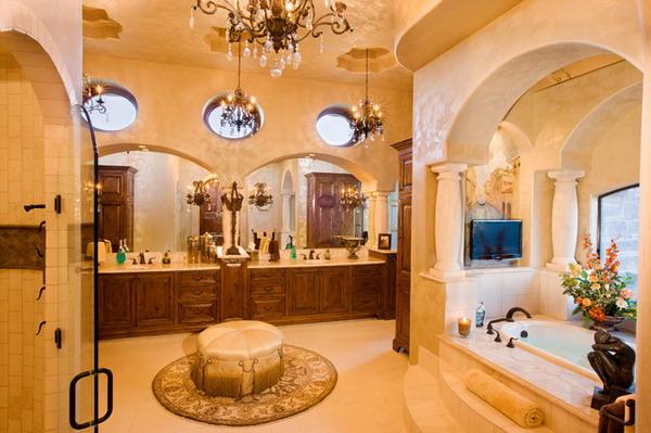 Mediterranean-Bathroom-Design-with-Luxurious-Vanity