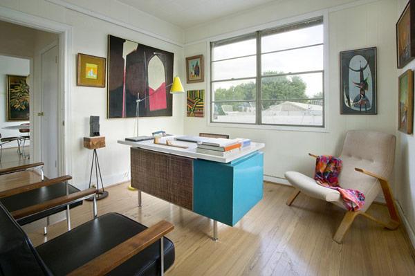 Midcentury Home Office Design