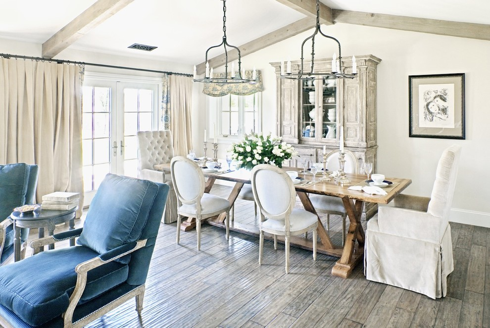 Ravishing-Stainless-Steel-Table-house-designs-Farmhouse-Dining-Room-Phoenix