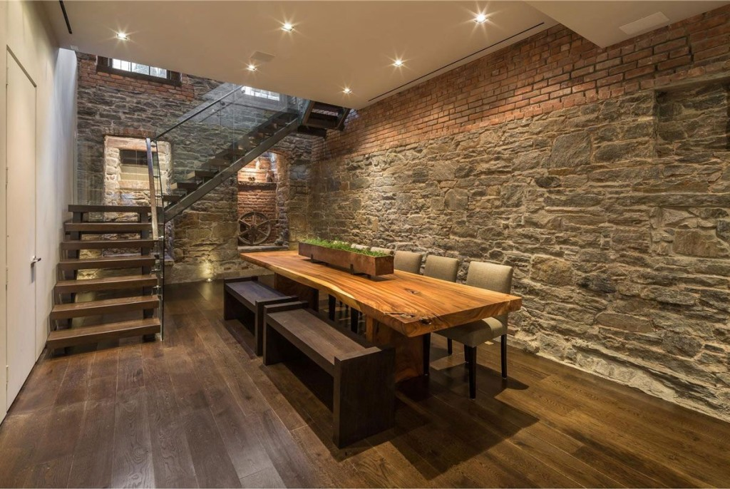 Rustic-Dining-Room-Ideas-With-Modern-Style-and-Wooden-Table