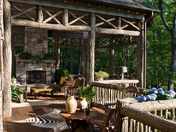 Rustic-outdoor-furniture
