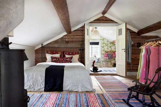 Scandinavian-House-with-Rustic-and-Indutrial-Bedroom-Design