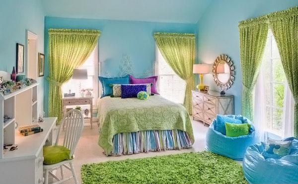 The-Green-Curtain-of-Stylish-Teenage-Girls-Bedroom-Ideas