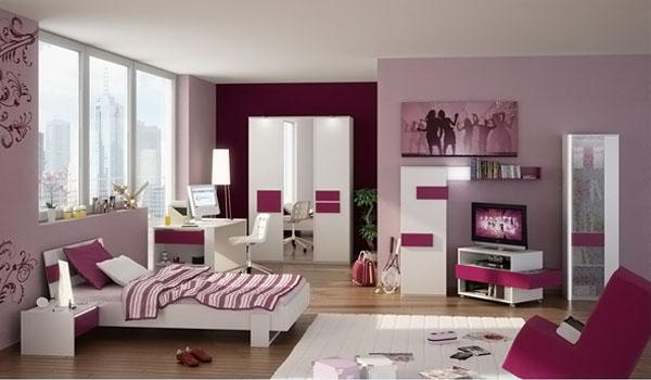 The-Red-Sofa-Of-Stylish-Teenage-Girls-Bedroom-Ideas