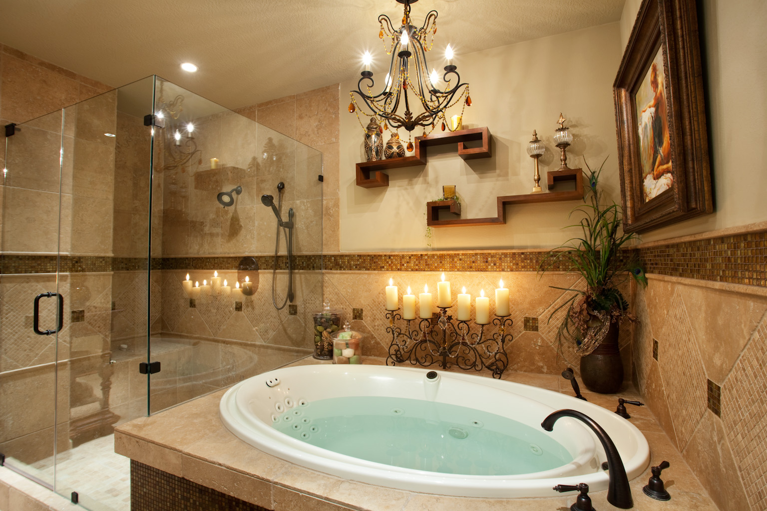 Wonderful-transitional-bathroom