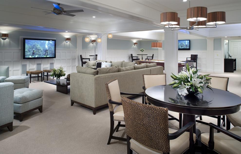 amaing Traditional basement-design-ideas