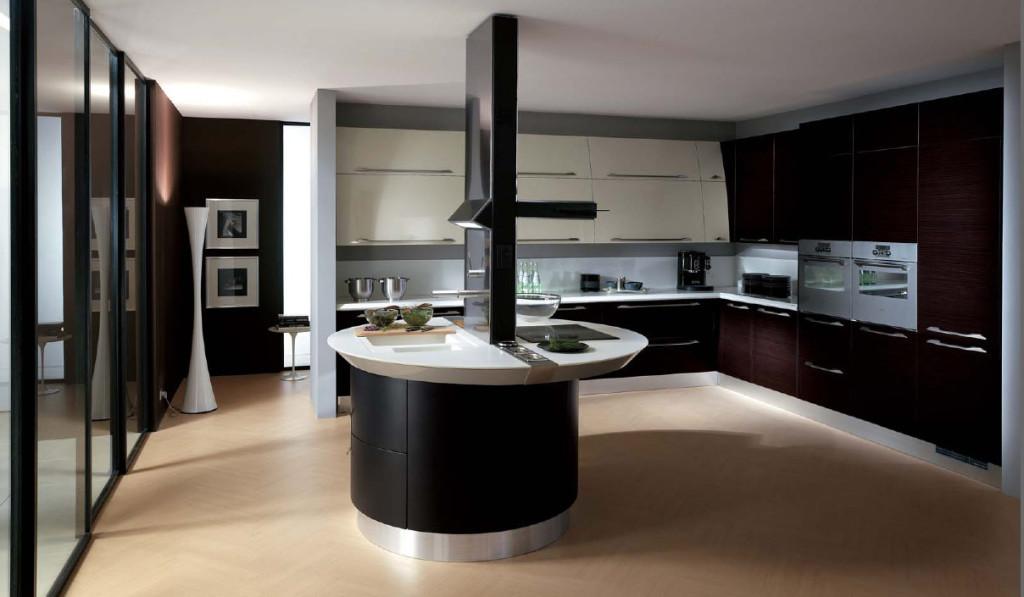brown-ceramic-floor-with-black-and-white-italian-kitchen-design-