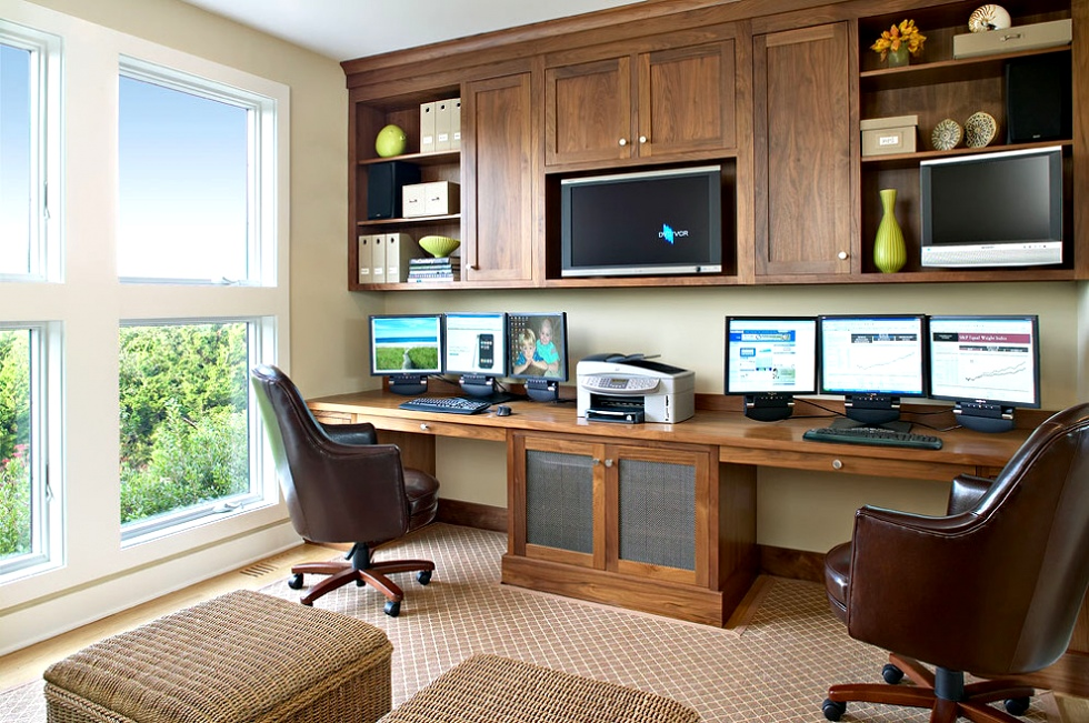 built-desks-and-built-storage-beach-style-home-office