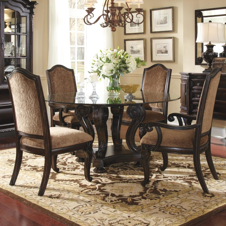 furniture-round-glass-dining-table-