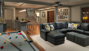 15 Stunning Transitional Basement Design Ideas