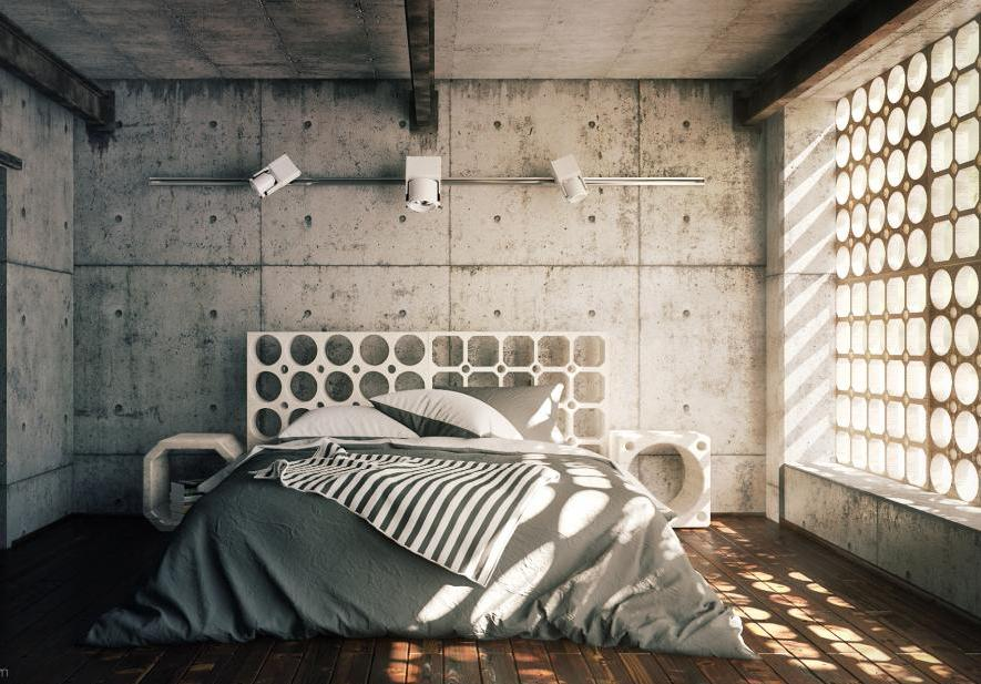 industrial bedroom