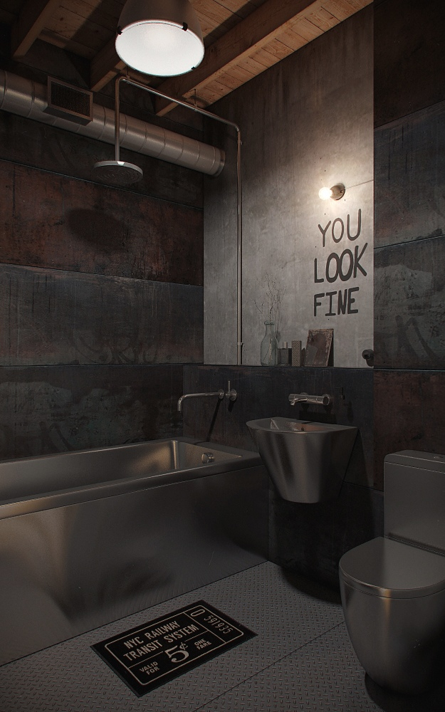 industrial-loft-bathroom