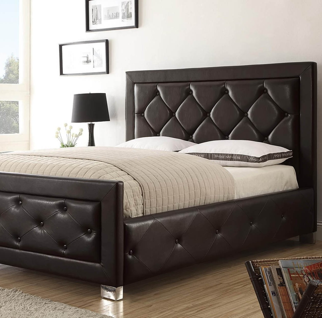 leather headboard