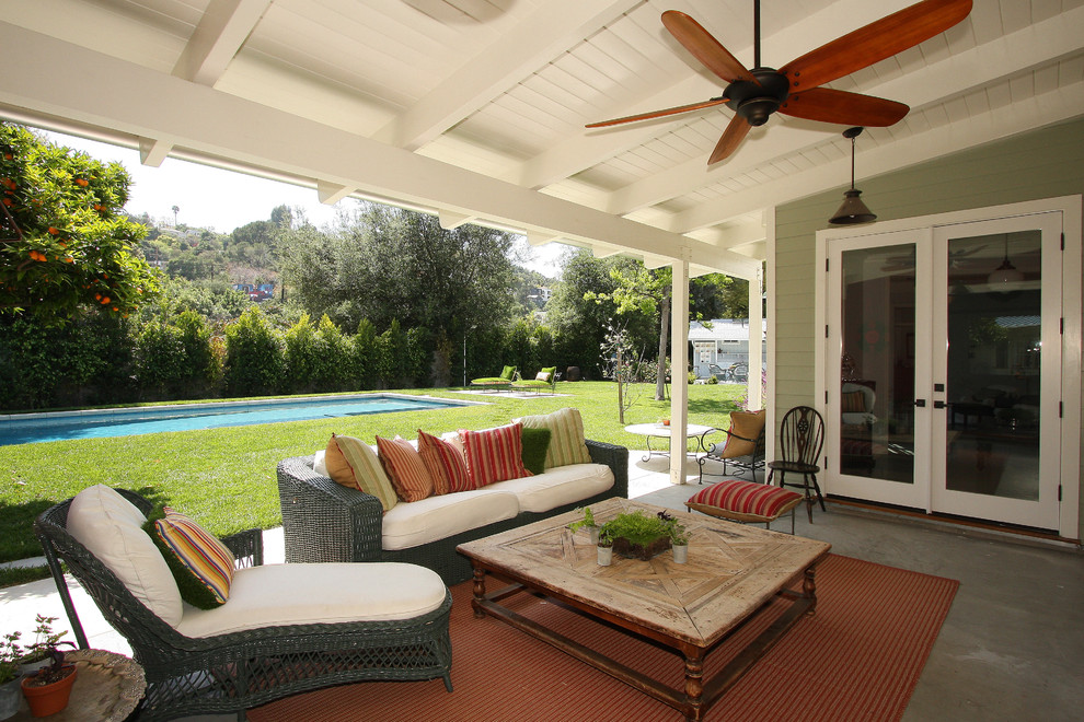 porch-roof-design-Porch-Farmhouse-with-ceiling-fan-covered-patio