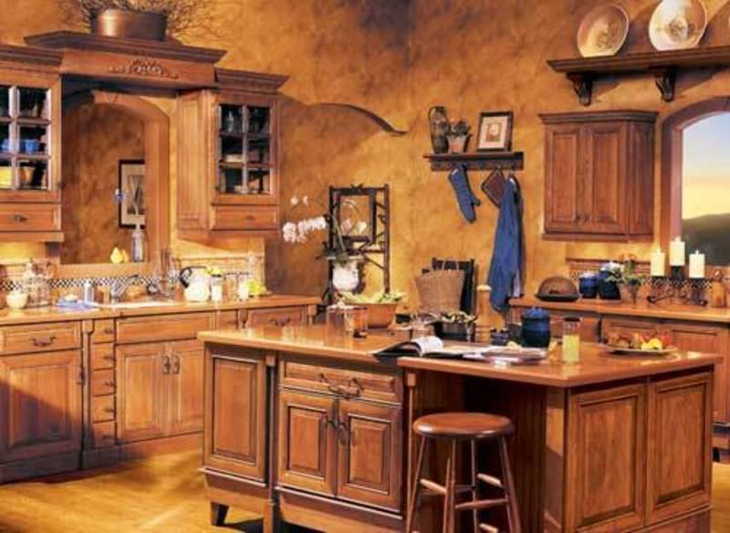 Rustic Wooden Kitchen Shelves Design