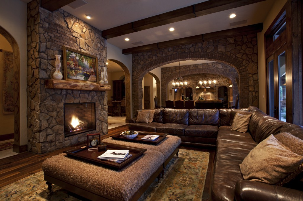 rustic-living-room-contemporary