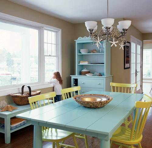 sea-blue-furniture-coastal-style-dining-room-design