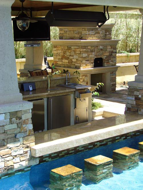 stylish pool bar