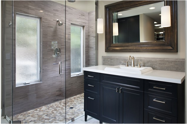 transitional bathroom designs-